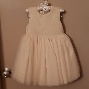 Gorgeous creamy lace/tulle dress and diaper cover